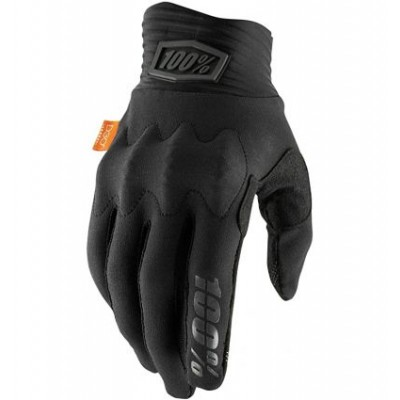 100% COGNITO Black/Charcoal Gloves