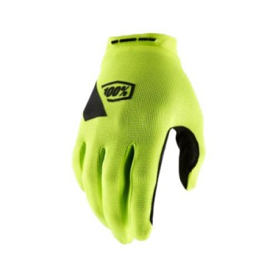 100% RIDECAMP Fluo Yellow Gloves