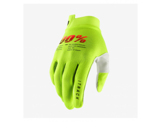 100% ITRACK Gloves Fluo Yellow